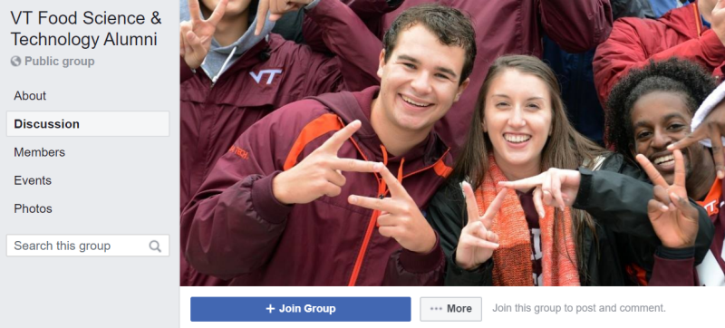 VT Food Science Alumni Facebook Group